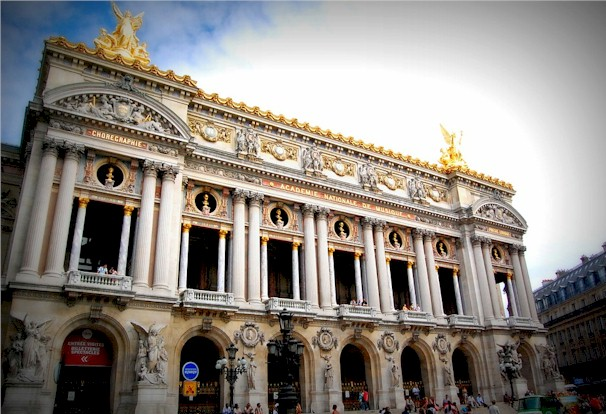 France culture with the ornate and opulent facade of the Paris Opera House by Charles Garnier