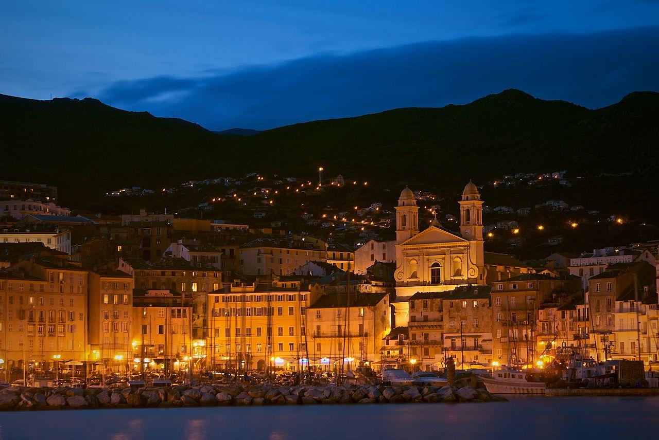 Bastia-old-port-night