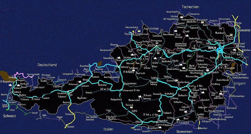 Austria-OBB-intercity-rail-network