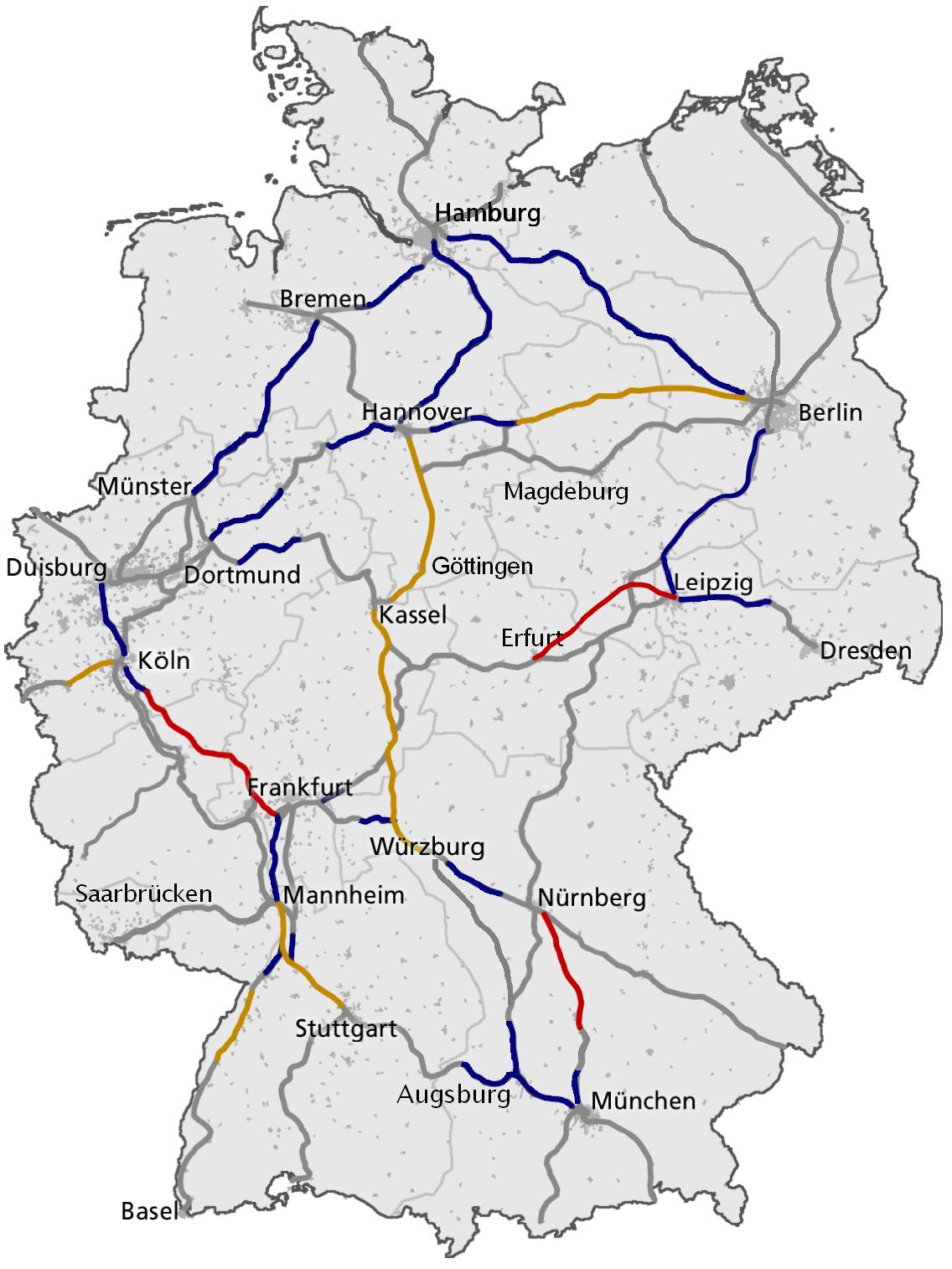 Germany-ICE-network