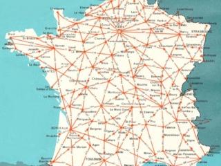 France Map Driving Distances