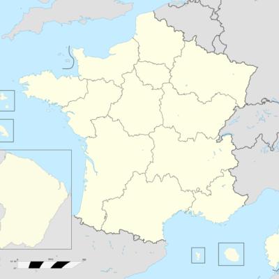 France Regions Blank Map