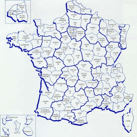 France Map Departments
