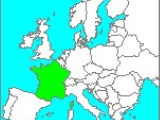 Blank Map of France in Europe
