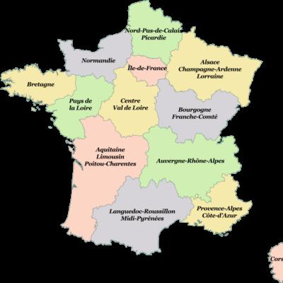 Regions of Metropolitan France